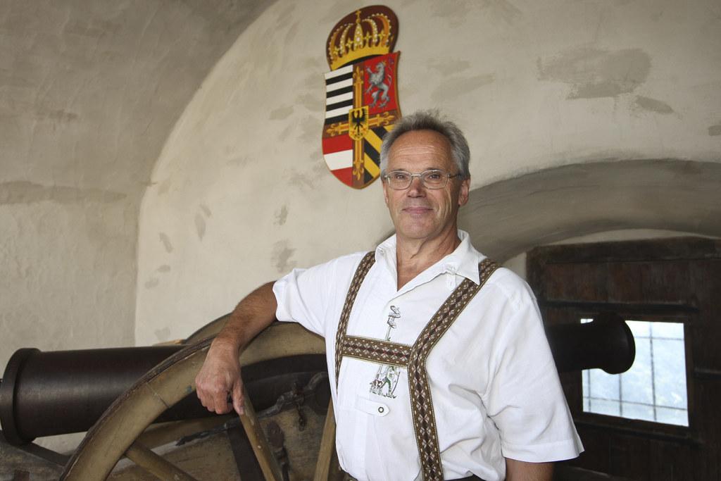 Burgverwalter Peter Meikl ist