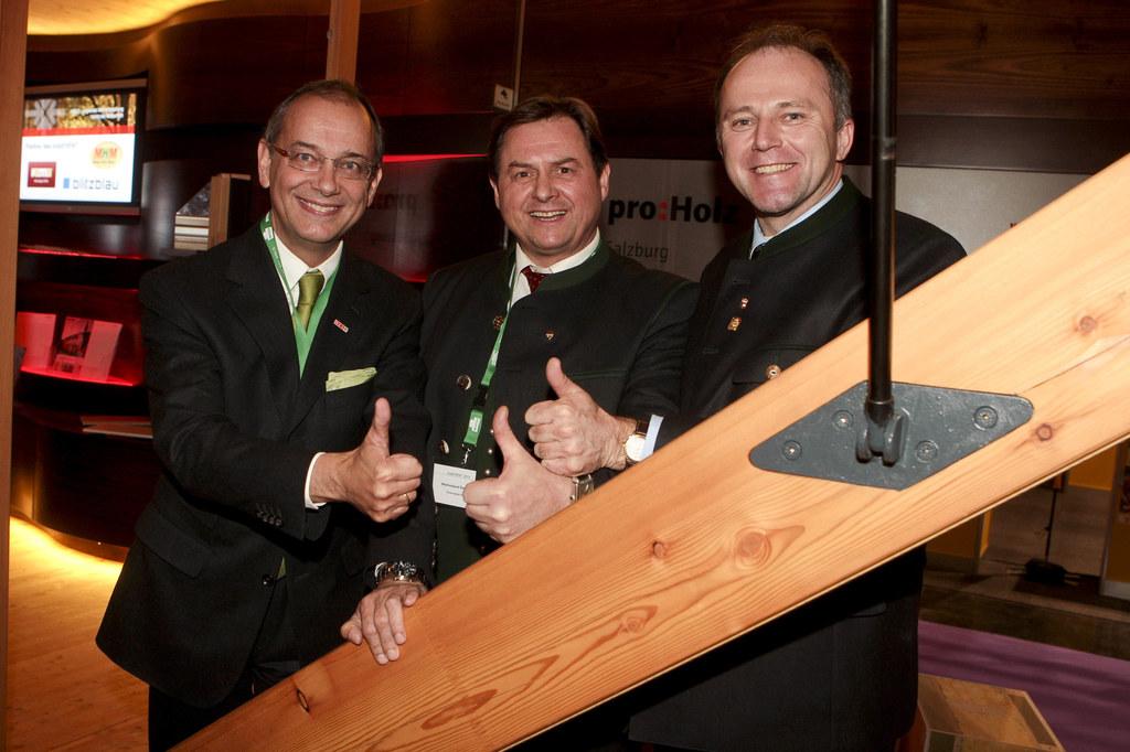 `Holz Event` bei der Messe Bauen + Wohnen im Salzburger
