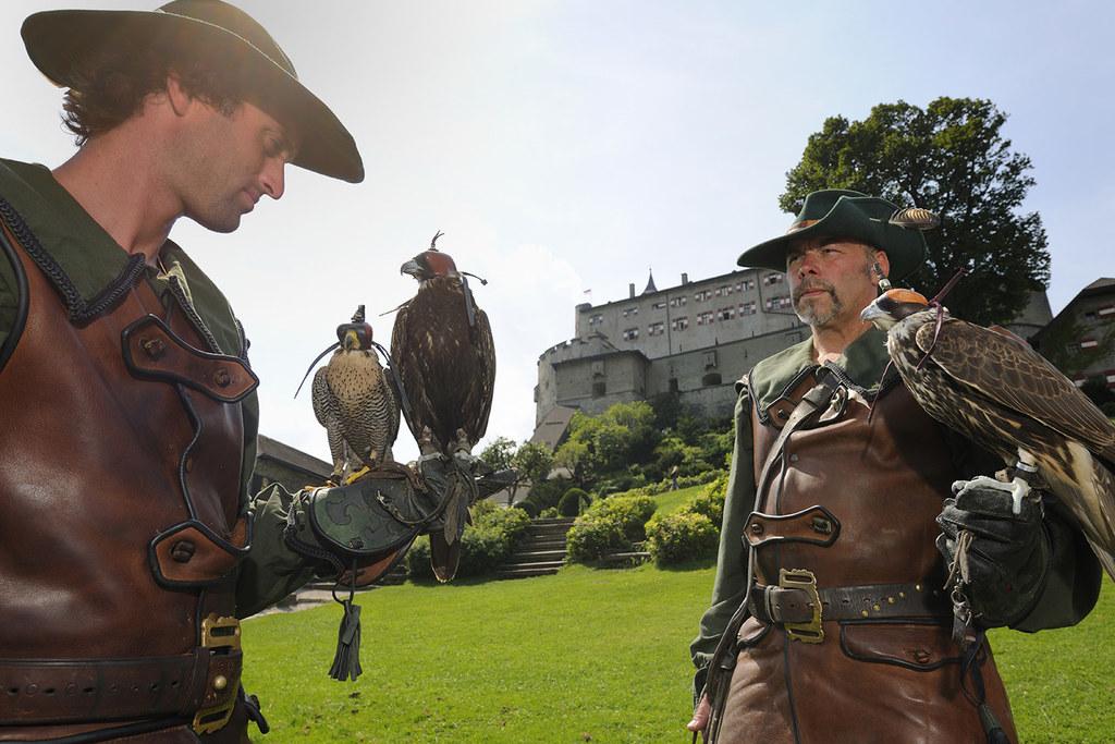 Falknereisonderprogramm auf Burg Hohenwerfen