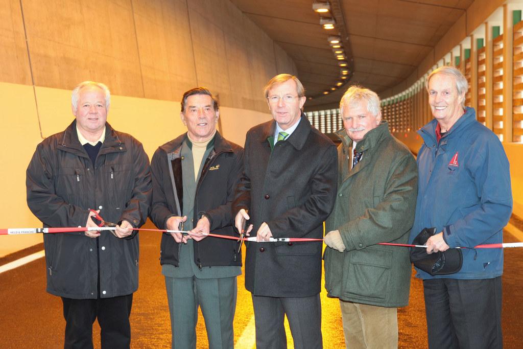 Eröffnung Lawinengalerie bei Tweng auf der B99 zwischen Tweng und Obertauern