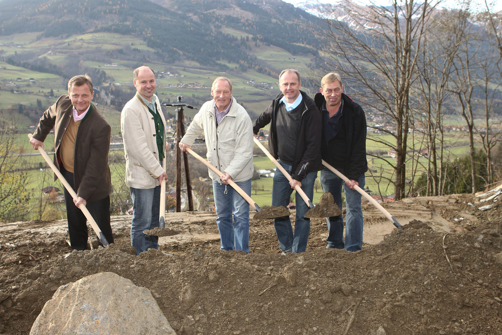 Spatenstich für die Verbauung des Gadauner-Baches in Bad Hofgastein