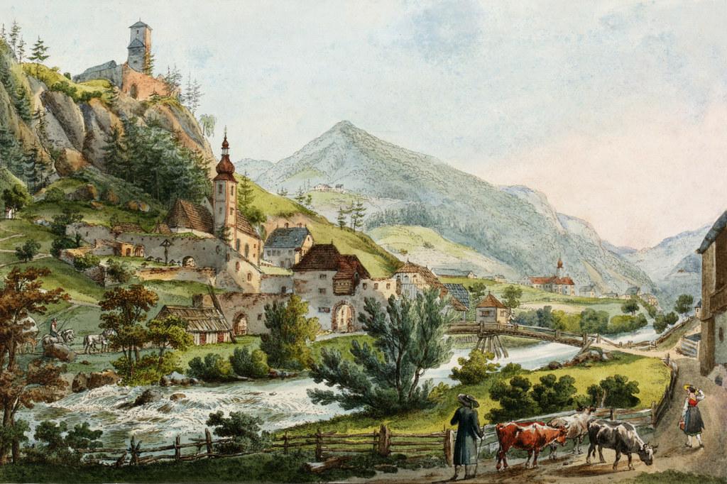 Die Einwohnerzahl Ramingsteins zurzeit der Entstehung des Gemäldes aus dem Jahr ..