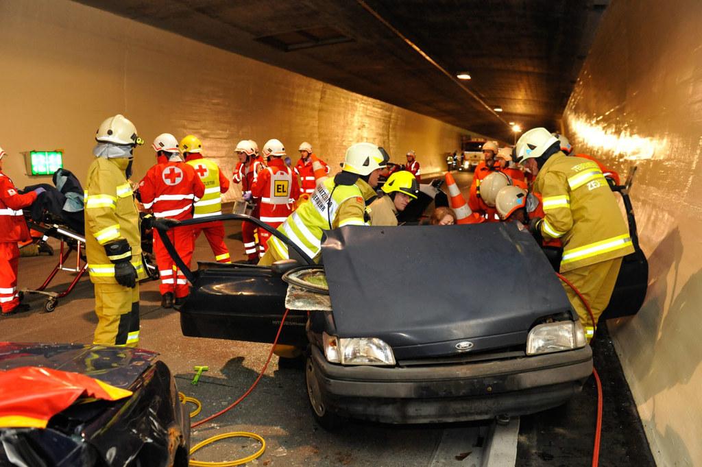 Katastrophenübung im Tauerntunnel