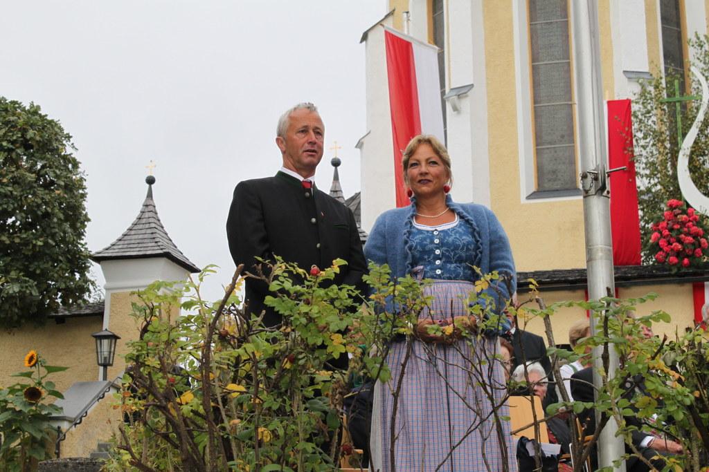 Bild v. li.: Bürgermeister Sebastian Pirnbacher und Landesrätin Dr. Tina Widmann