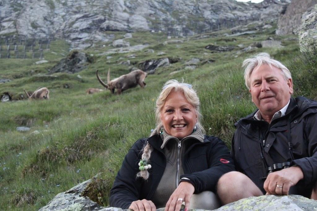 Landesrätin Dr. Tina Widmann und Berufsjäger Sepp Hörl