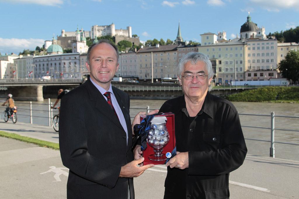 Landesrat Sepp Eisl und Klaus-Peter Hanten