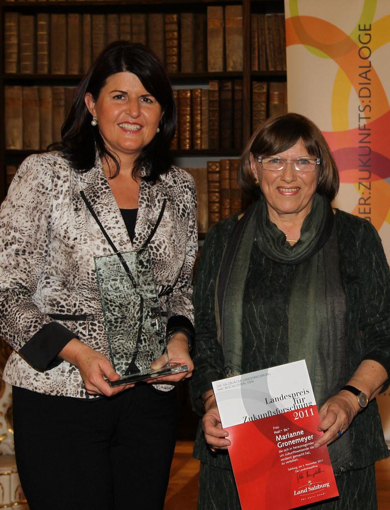 Landespreis für Zukunftsforschung für Marianne Gronemeyer