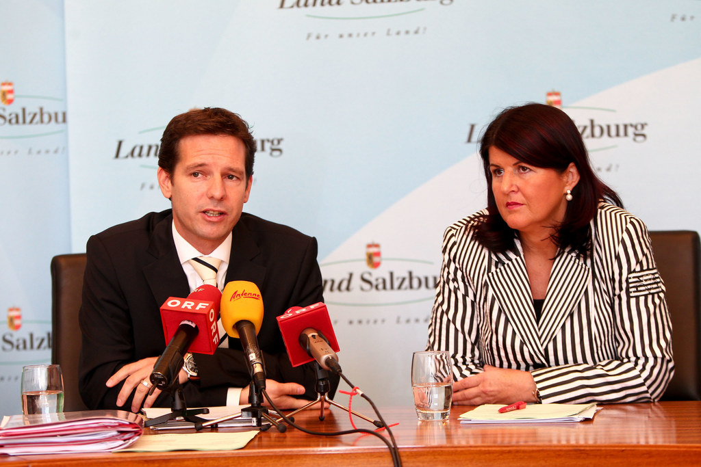 Budgetklausur v.l.:  LH-Stv. David Brenner und LHF Gabi Burgstaller