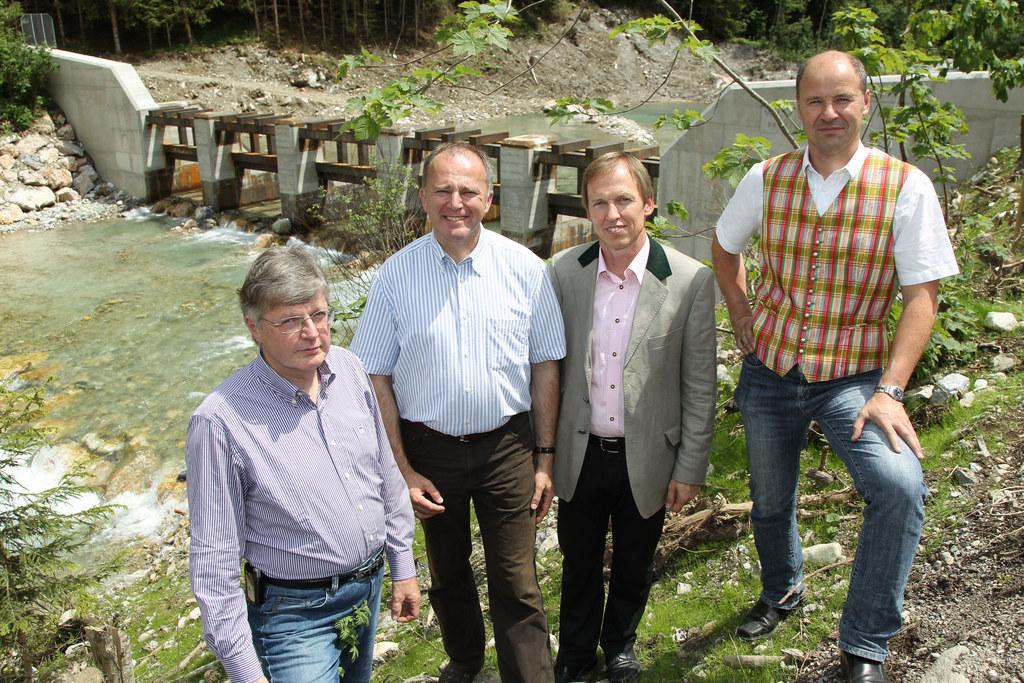 Landesrat Sepp Eisl im Ennsgraben in Flachau