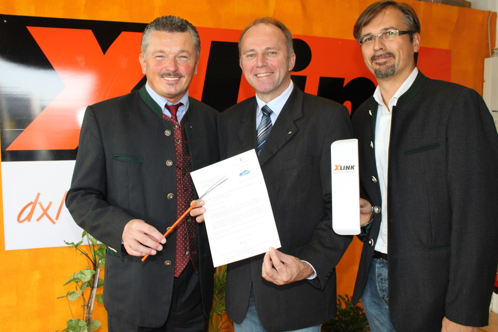 Michael Herbst, LR Sepp Eisl und Wolfgang Flatscher