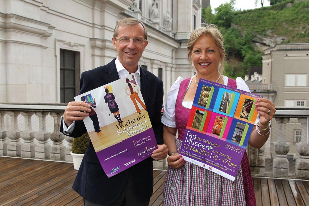 LH-Stv. Dr. Wilfried Haslauer und LR Dr. Tina Widmann
