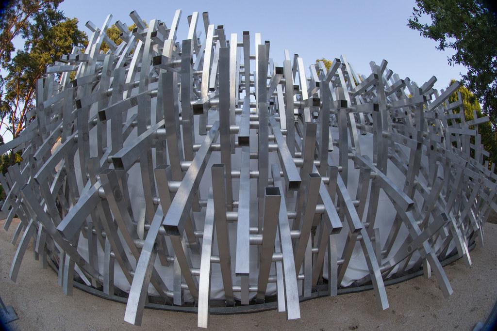 """Der Kunstpavillon """"white noise"""" des Landes sucht einen dauerhaften Standort. Die.."""