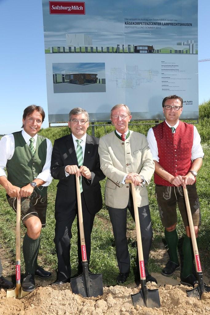 Christian Leeb, LR Dipl.-Ing. Dr. Josef Schwaiger, LH Dr. Wilfried Haslauer und Andreas Gasteiger