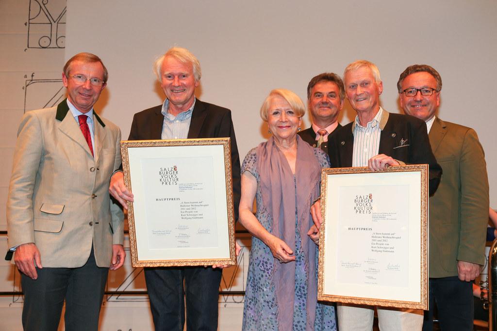 LH Dr. Wilfried Haslauer, Wolfgang Guttmann , Trude Kaindl-Hönig, Kurt Schwaiger..