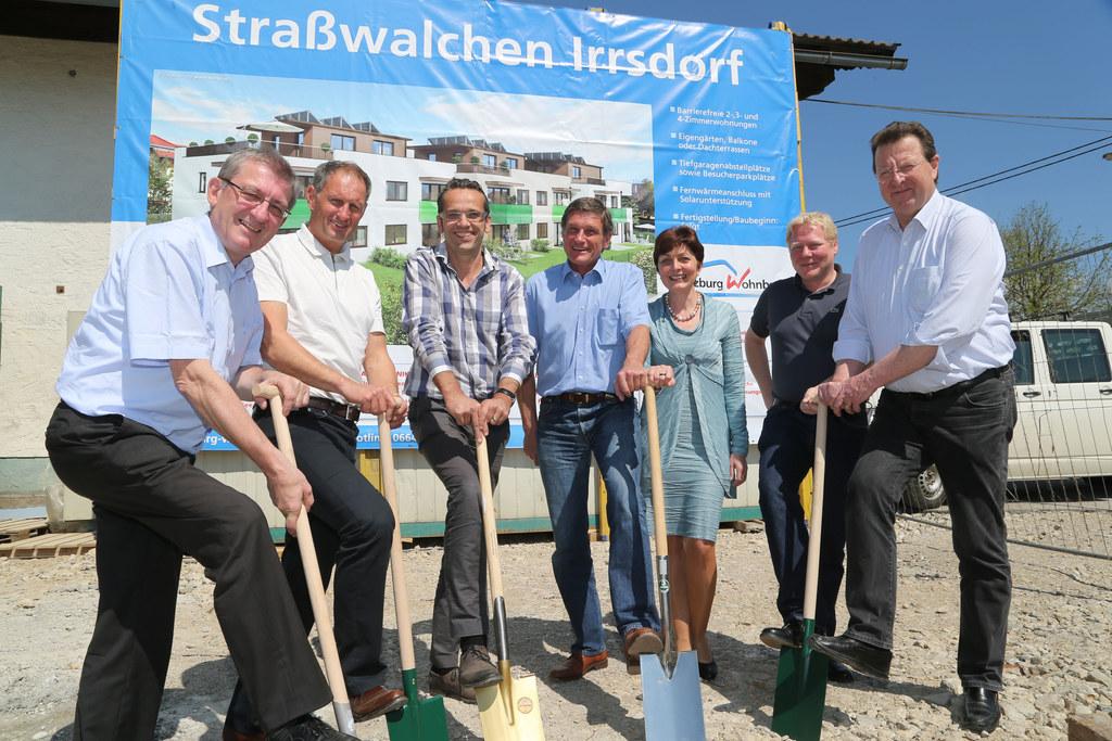 LR Walter Blachfellner, Dr. Roland Wernik, Wolfgang Fuchs (TFM Bau), Lukas Dürr ..