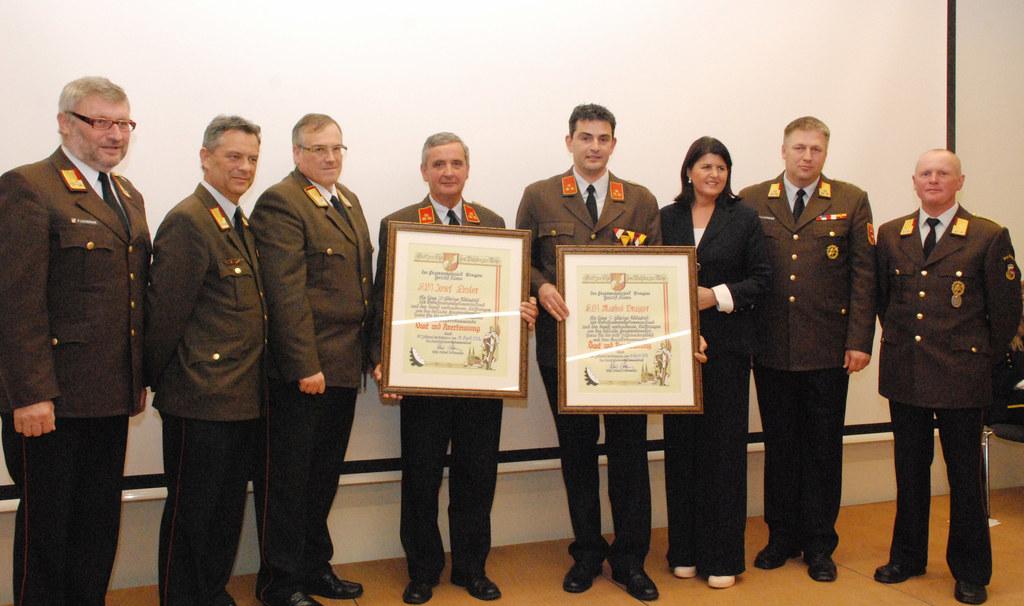 AFK Peter Listberger, AFK Roman Spiegel, LFK Leopold Winter, ehren OFK Josef Ebs..