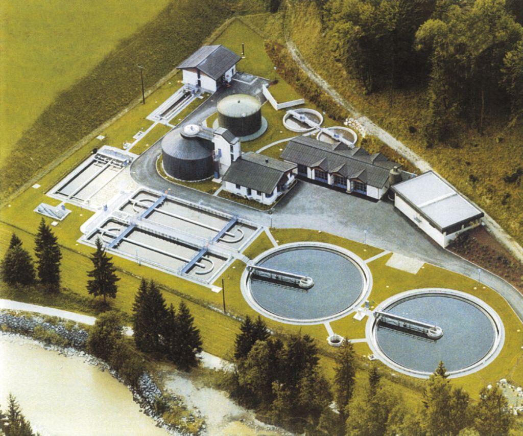 Bayerisches Abwasser wird manchmal auch in Salzburger Kläranlagen wie hier in Un..