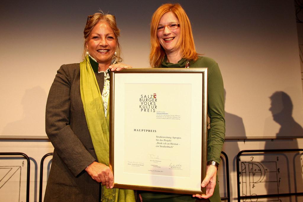 Michaela Gründler, die letztmalige Hauptpreisträgerin, ist heuer Mitglied der Ju..