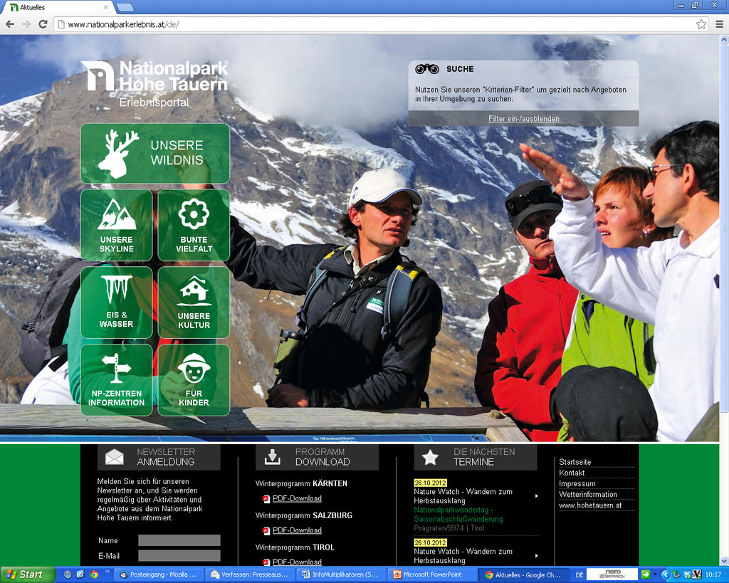 Neues Webportal des Nationalparks Hohe Tauern