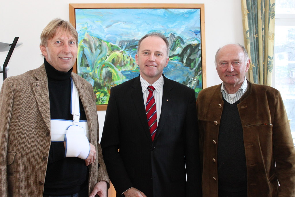 v.l.: Bgm, Hermann Kaufmann, LR Sepp Eisl und GF Willi Ebster