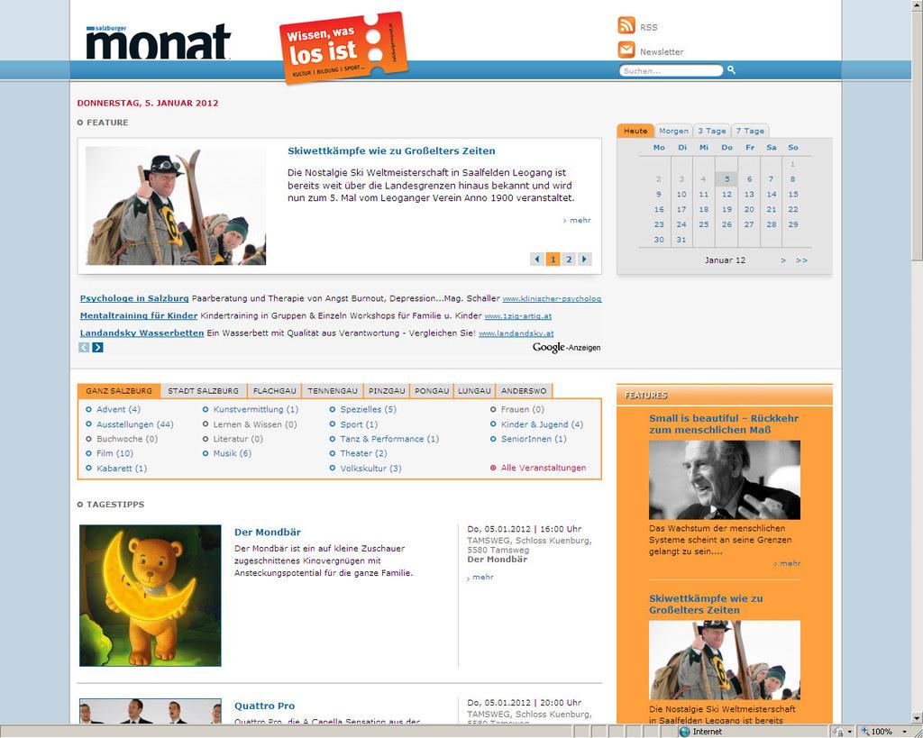 salzburgermonat.at ist Salzburgs Online-Veranstaltungskalender