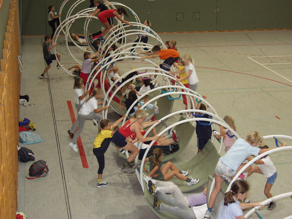 Rhönradturnen ist eine der beliebtesten Sportarten bei der Aktion Jugend zum Spo..