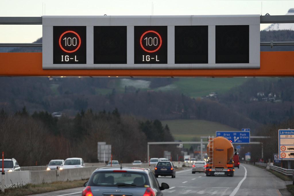 Wegen technischer Probleme bei der Asfinag gilt derzeit auf der A10 ein permanen..