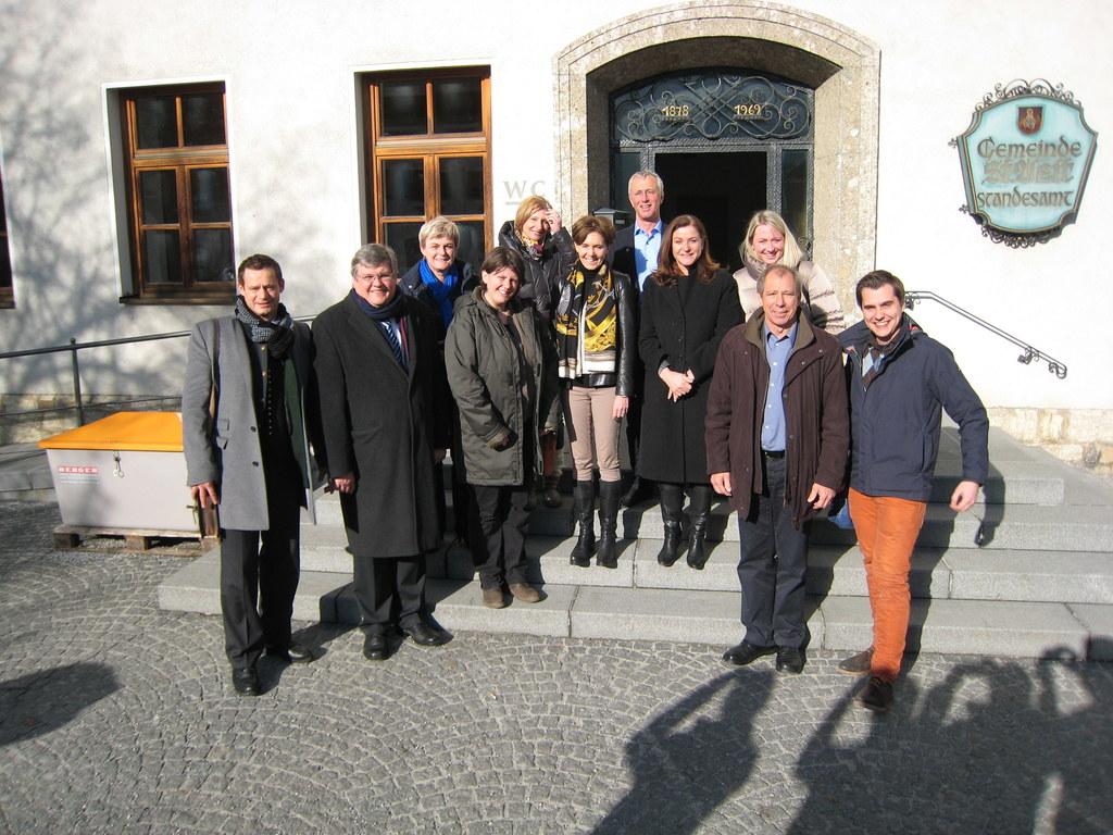 Abgeordnete des Salzburger Landtags zu Besuch in St. Veit; von links: Otto Konra..