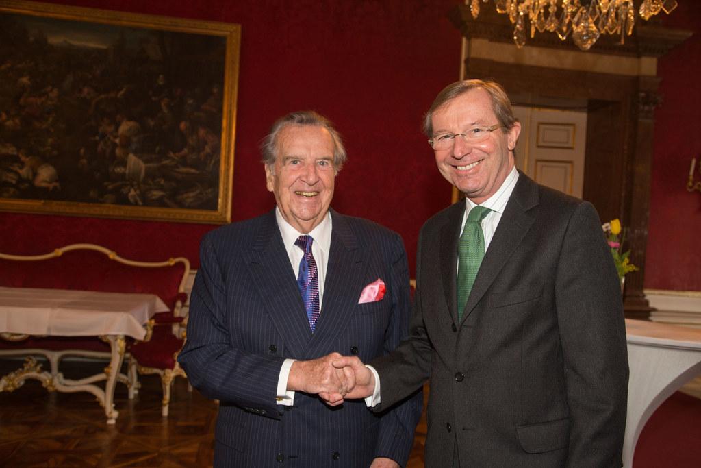 Senator DDr. Herbert Batliner und Landeshauptmann Dr. Wilfried Haslauer