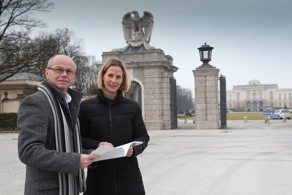 LHStv. Mag. Dr. Christian Stöckl und Historikerin Dr. Imma Walderdorff