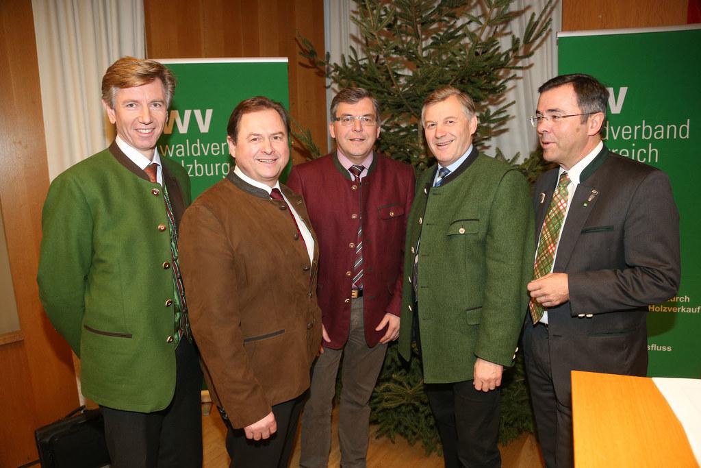DI Franz Lanschützer (Forstdirektor LK Salzburg), Rudolf Rosenstatter (Obmann de..