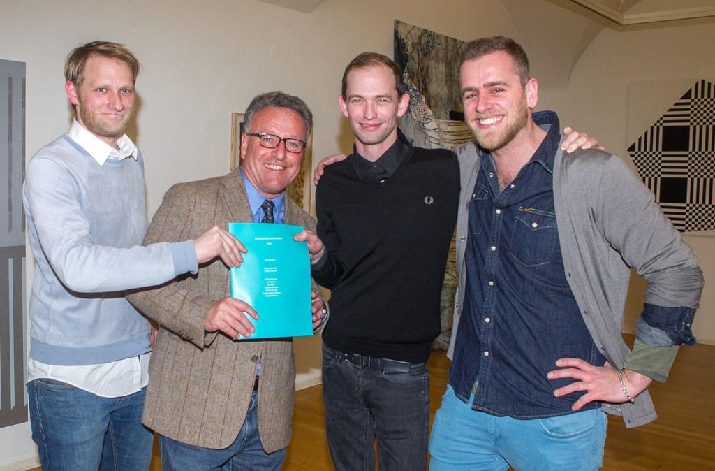 Georg Frauenschuh,  Landesrat Dr. Heinrich Schellhorn, Gewinner Nick Oberthaler ..