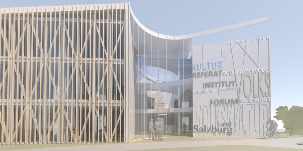 Haus der Volkskulturen nach Plänen von Architekt Max Rieder