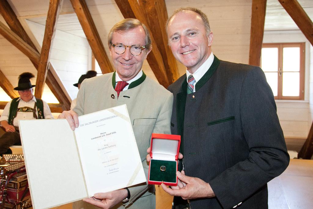 Landeshauptmann Dr. Wilfried Haslauer und Landesrat a.D. Sepp Eisl