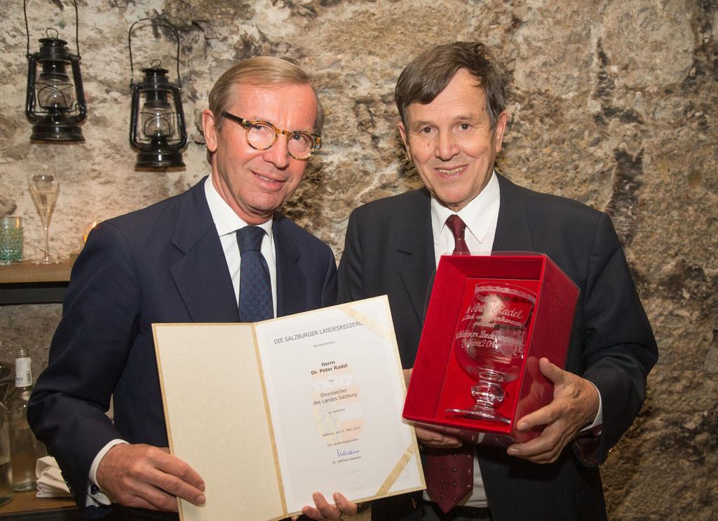Landeshauptmann Dr. Wilfried Haslauer und Dr. Peter Radel