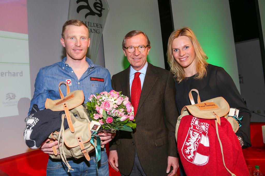 Simon Eder, Landeshauptmann Dr. Wilfried Haslauer und  Marlies Schild