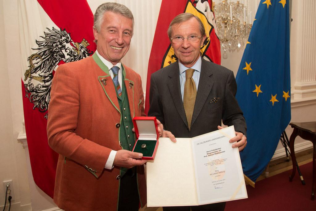 Prof. Helmuth Mödlhammer  und Landeshauptmann Dr. Wilfried Haslauer