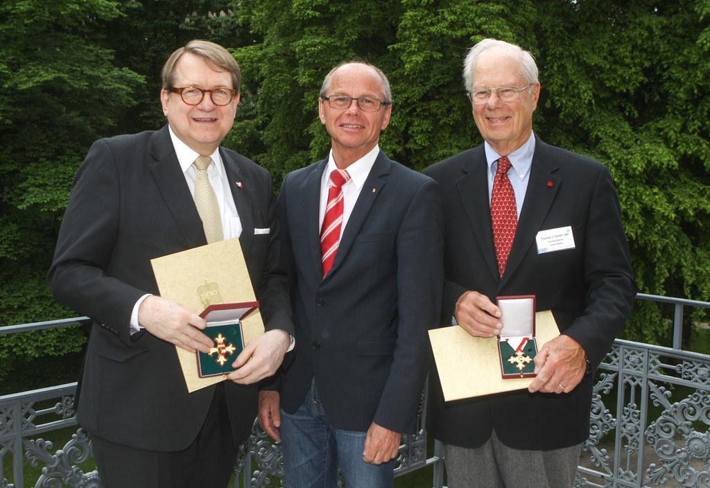 Prof. Dr. Wolfgang Aulitzky, Landeshauptmann-Stellvertreter Dr. Christian Stöckl..