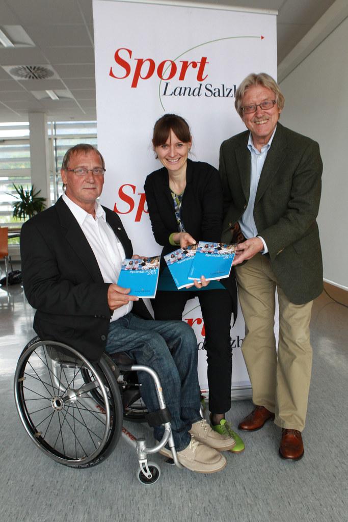 Bild v.li.: Mag. Walter Pfaller, Landessportorganisation Salzburg; Landesrätin M..