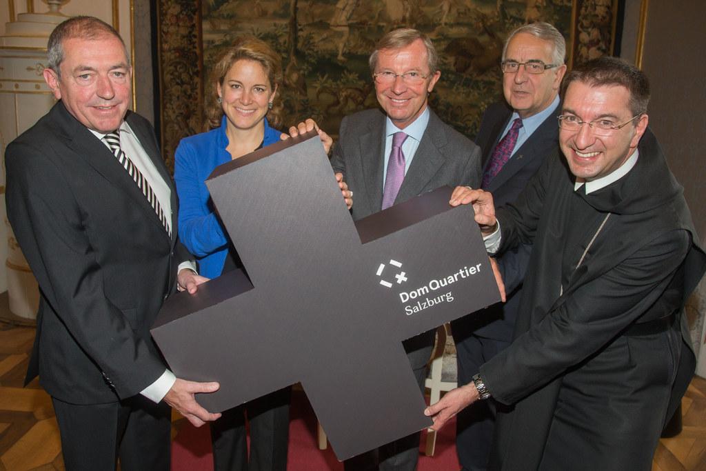 Eröffnung Salzburger DomQuartier; v.links: Bürgermeister Dr. Heinz Schaden, Dr. ..