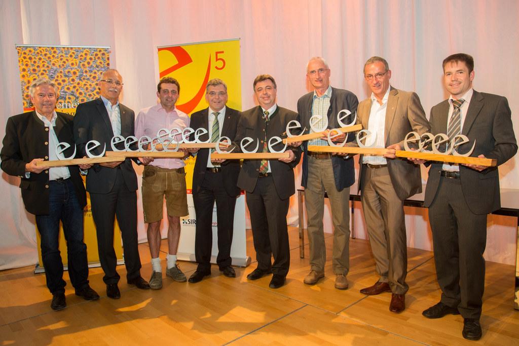 Josef Tagwercher, Günther Mitterer, Martin Greisberger, Landesrat DI Dr. Josef S..