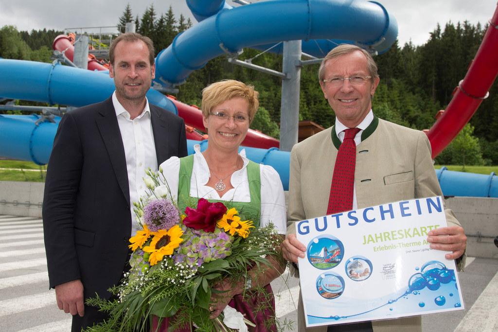 Markus Steinhart, Alexandra Heigl und Landeshauptmann Dr. Wilfried Haslauer