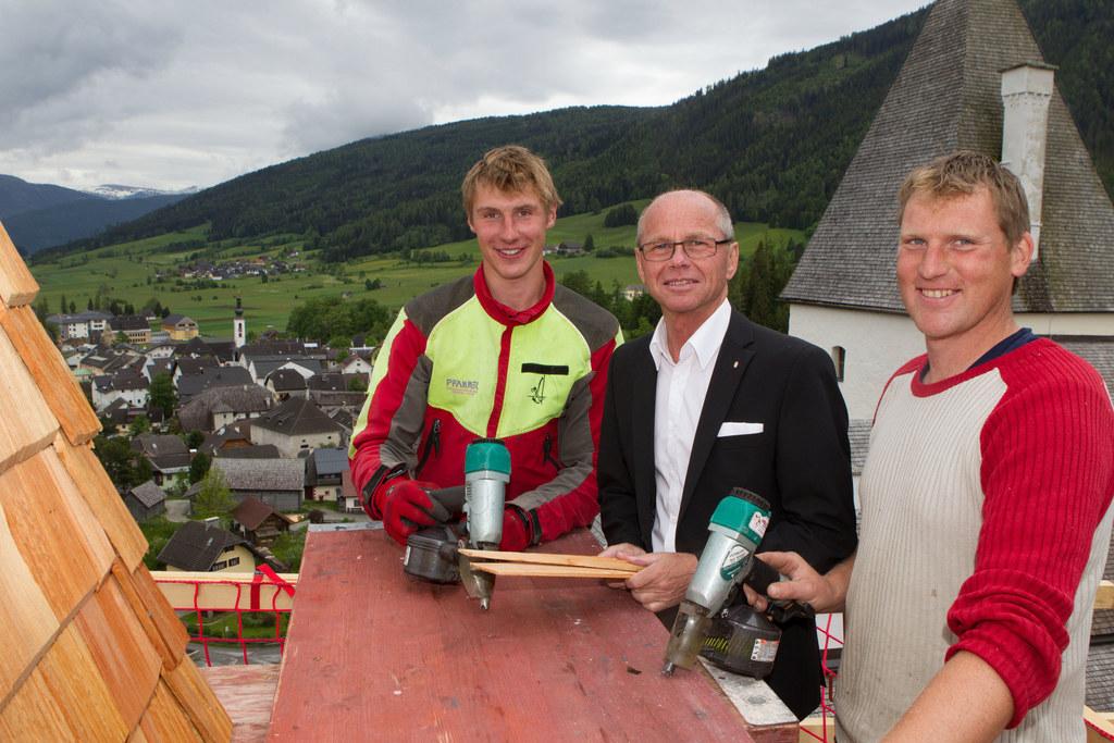 Auch der Kapellenturm der Burg Mauterndorf wird restauriert. 300.000 Euro fließe..