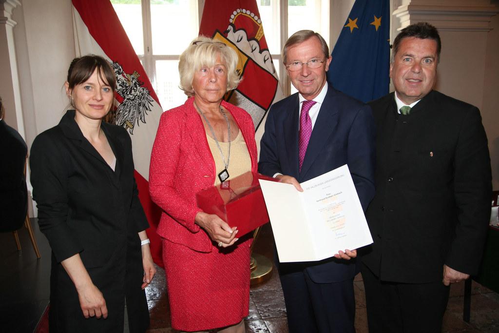 Landesrätin Mag. Martina Berthold, Getrude Ruckser-Giebbisch, Landeshauptmann Dr..