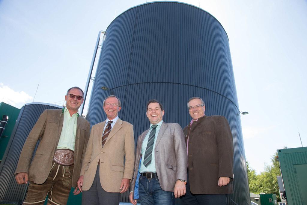 Peter Mitterer, Landeshauptmann Dr. Wilfried Haslauer,  Manfred Gassner und Leo ..