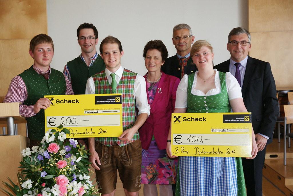Simon Kletzl, Peter Schnitzhofer, Florian Mackinger, MR DI Mag. Dr. Josefa Reite..