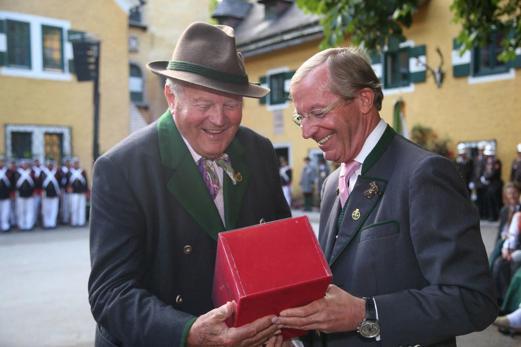 Landeshauptmann Dr. Wilfried Haslauer und DI Friedrich Mayr-Melnhof