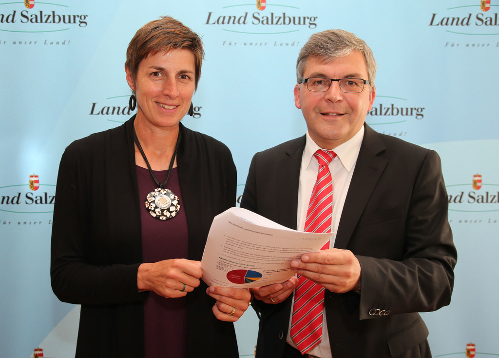 LH-Stv. Dr. Astrid Rössler, LR Dipl.-Ing. Dr. Josef Schwaiger - Masterplan Klimaschutz & Energie 2020