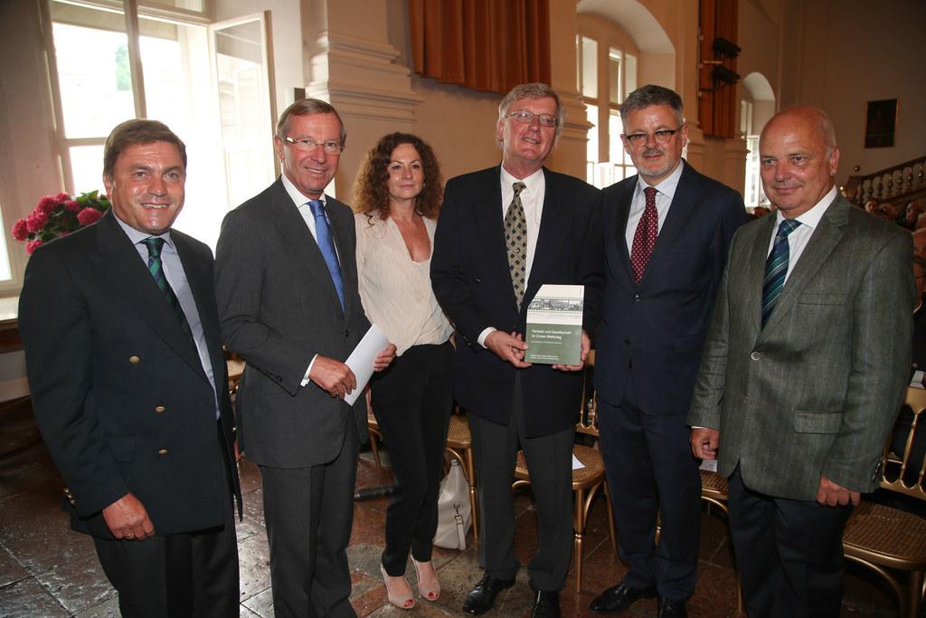 Helmut Wohnout, LH Dr. Wilfried Haslauer, Michaela Maier, Robert Kriechbaumer, C..
