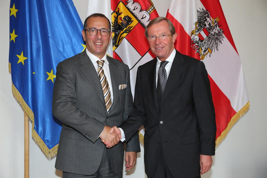 Botschafter Zvi Heifetz und Landeshauptmann Dr. Wilfried Haslauer